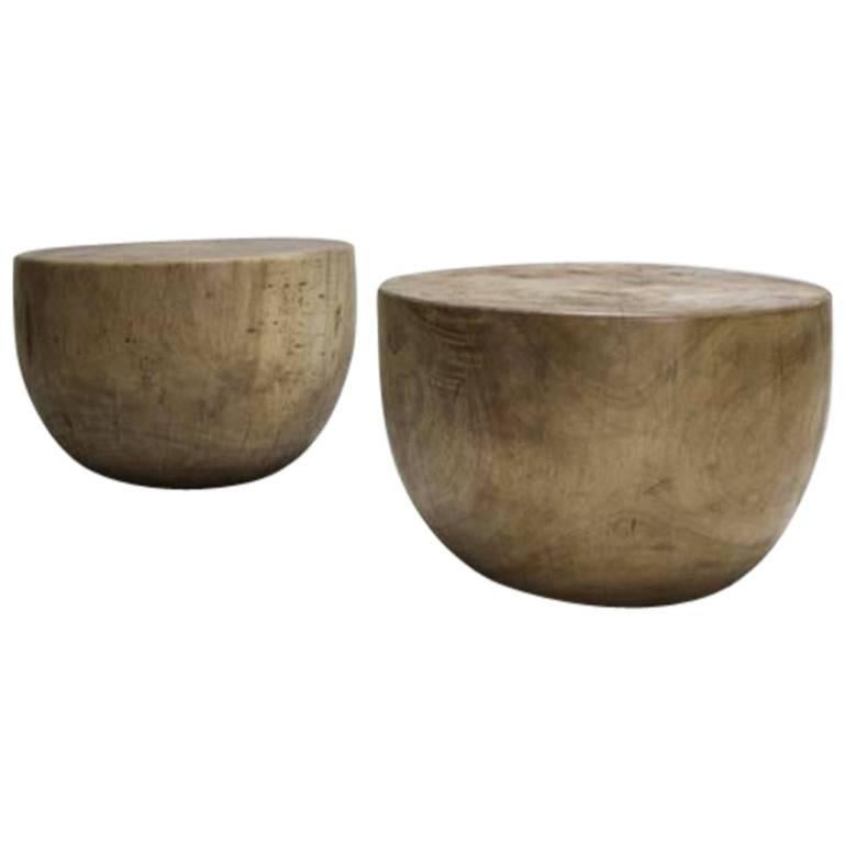 Mauro Mori Cup Table in Natural Albizia Wood For Sale