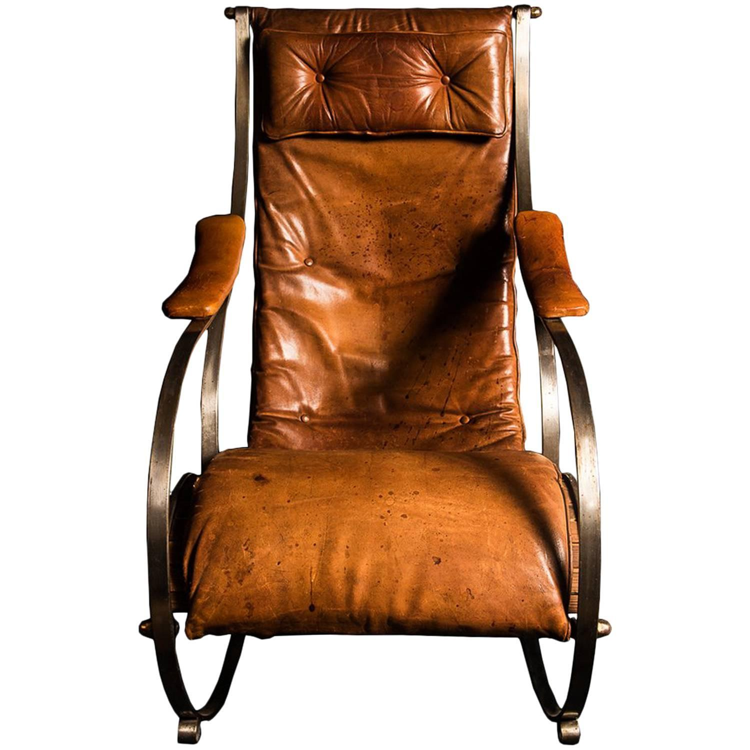 Beautiful Leather Rocking Chair Design