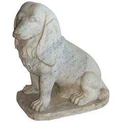 English Vintage Marble Dog