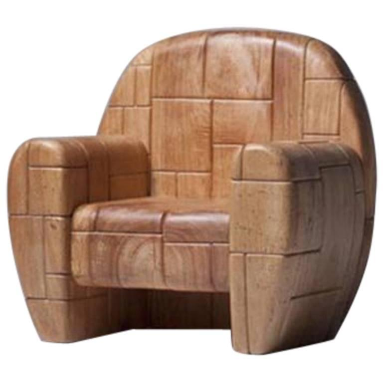 Mauro Mori Albizia Wood La Cosa Chair, Edition Six 1