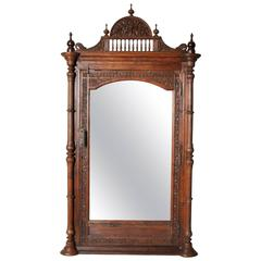 Carved British Colonial Mirror