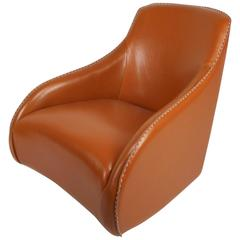 Contemporary Modern Leather Rocking Chair