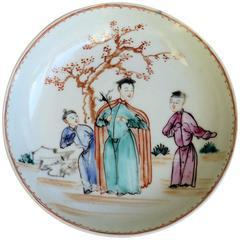 18th C Chinese Porcelain Saucer Dish or Plate, Qing Qianlong Circa 1760