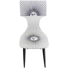 """Sole"" Chair by Piero Fornasetti for Atelier Fornasetti, New Old Stock"