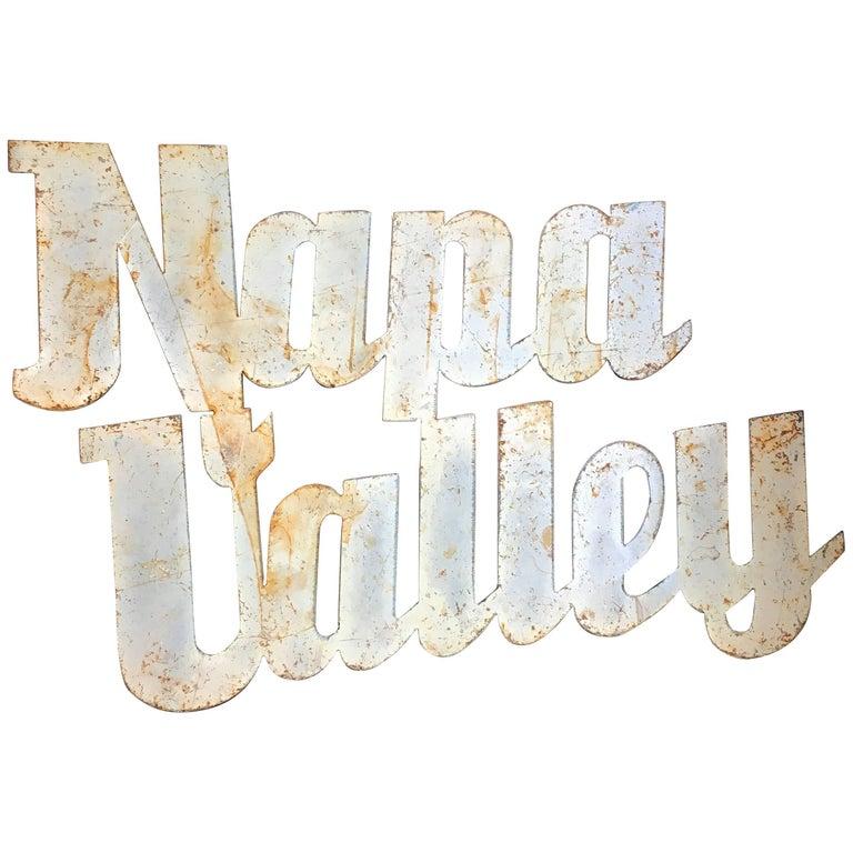 Vintage Napa Valley Sign, circa 20th Century For Sale