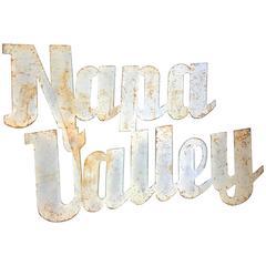 Vintage Napa Valley Sign, circa 20th Century