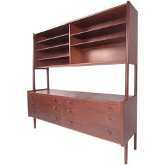 Hans Wegner Sideboard With Upper Shelf Cabinet