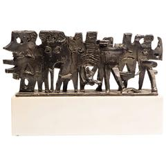 "Abbott Pattison Sculpture ""The Exodus"" in Sterling Silver"