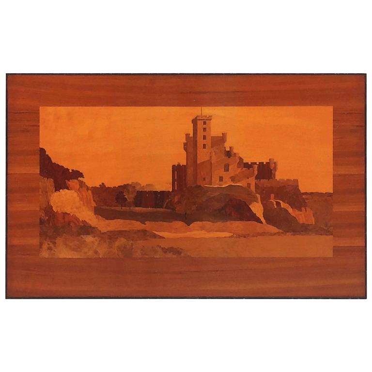 Large Scottish Marquetry Panel of Dunvegan Castle