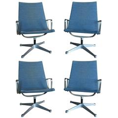 Set of Vintage Eames Aluminium Group Armchairs
