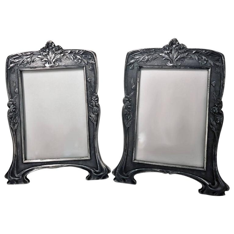 Set Of Three Vintage Silver Christofle Frames For Sale At 1stdibs