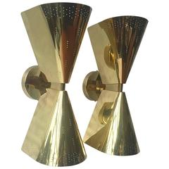 Pair of Wall Lights in Paavo Tynell Style