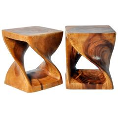 Hand-Carved Stools