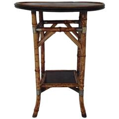 Bamboo Lacquer and Japan Bamboo Side Table
