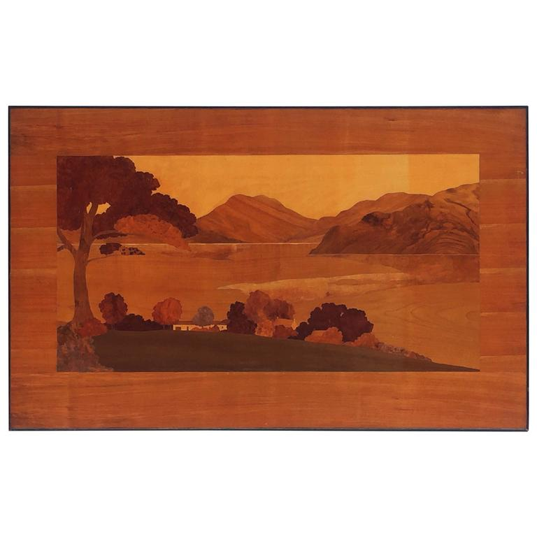 Large Scottish Marquetry Panel of Loch Fyne, Argyll 1