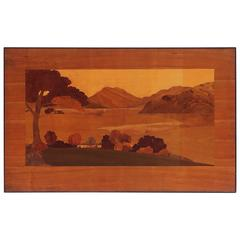 Large Scottish Marquetry Panel of Loch Fyne, Argyll