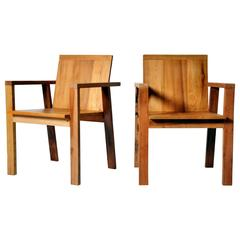 Reclaimed Teak Wood Armchairs
