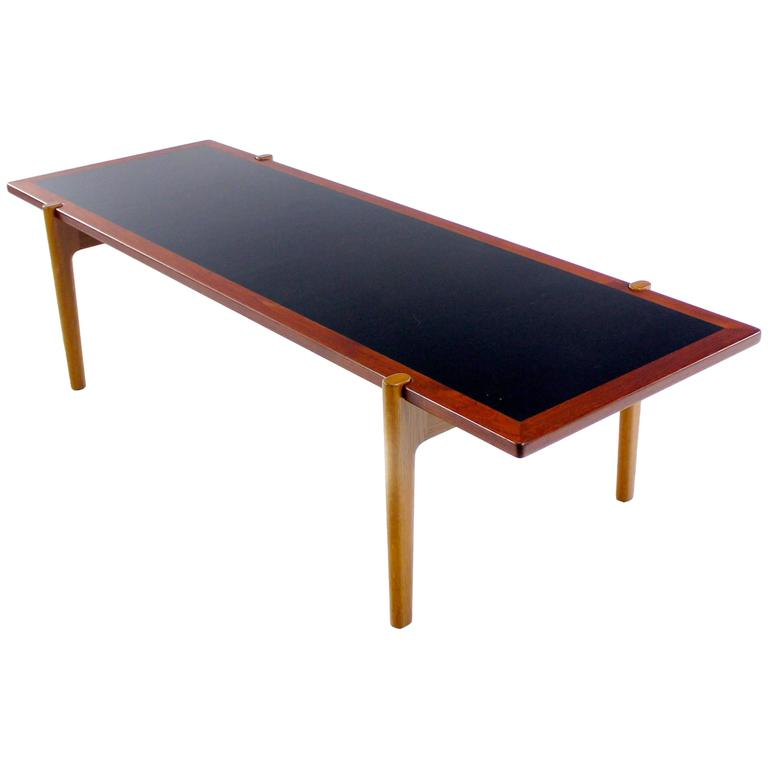 danish modern teak and oak reversible coffee table by hans wegner at