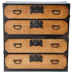 Japanese Tansu with Black Hardware