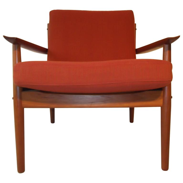Arne Vodder Teak Winged Armchair For Sale At 1stdibs