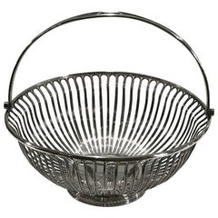 Antique Sheffield Plated Wire Work Basket
