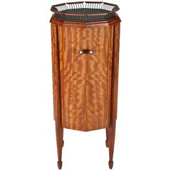 Bubinga Cabinet with Bronze Gallery Top by John Dunnigan