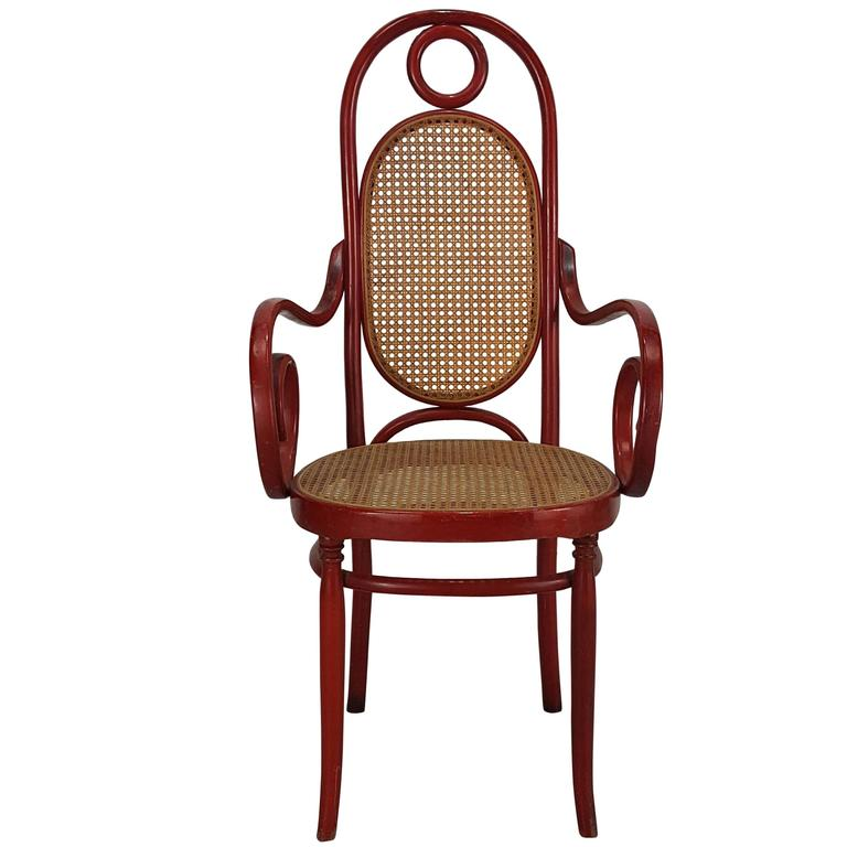 Model 17 Bentwood High Back Armchair by Michael Thonet For Sale - Model 17 Bentwood High Back Armchair By Michael Thonet For Sale At
