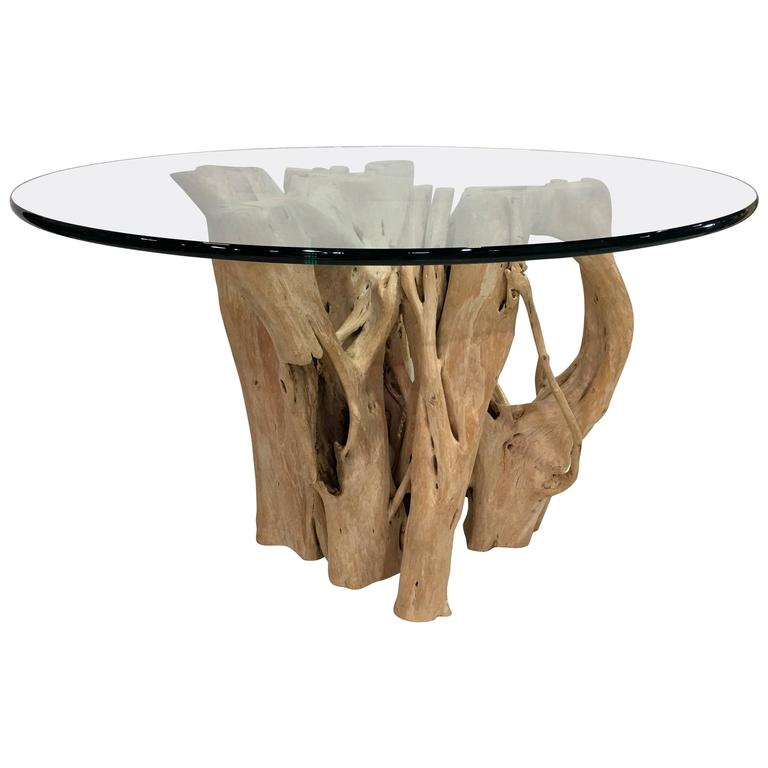 Cypress tree trunk dining table by michael taylor for sale for Tree trunk dining table