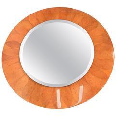 Incredible Large Wall Mirror, Real Tobacco Leaf Design, Karl Spriner Style
