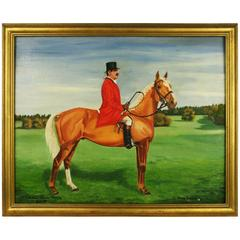 Oil Painting, Englishman on Horseback