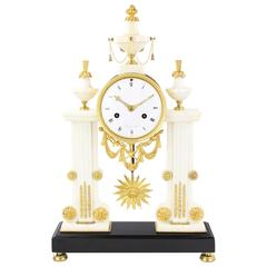 Rare and Decorative Early 19th Century Table Clock, France, circa 1810