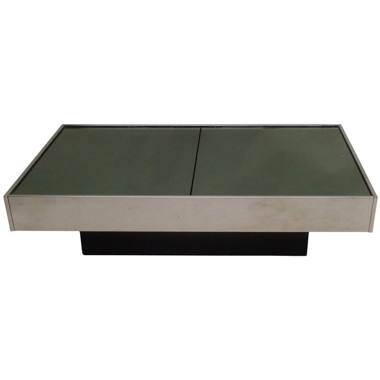 Expandable Italian Mid-Century Modern Coffee Table by Willy Rizzo for Cidue 1970