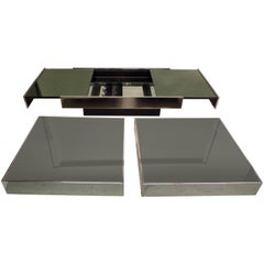 Italian Mid-Century Expandable Coffee Table & Pair of End Tables by Willy Rizzo