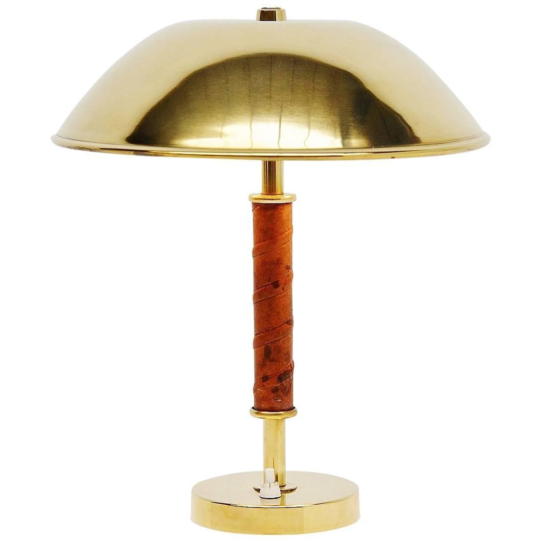 Pair of floor lamps produced by falkenbergs belysning ab in sweden at - Asea Belysning Brass And Leather Table Lamp Sweden 1960 For Sale At 1stdibs