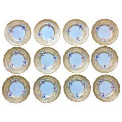 12 Tiffany Desert Plates