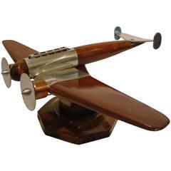 Art Deco Airplane Desk Model, France, 1930s