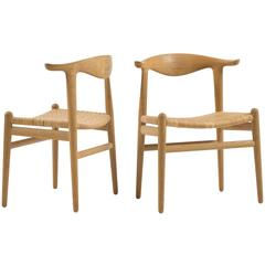 Set of four Hans J. Wegner JH505 in Oak