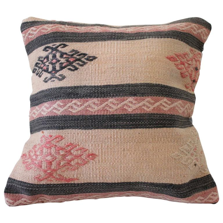 Vintage Turkish Oushak Rug Pillow For Sale At 1stdibs
