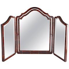 Large Art Deco Three Fold Tortoiseshell Vanity Mirror English, circa 1920
