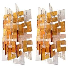 Pair of Sconces by Carlo Nason for Mazzega Murano, 1970s, Italy