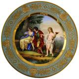 Royal Vienna Style Porcelain Charger 'Nach Angelika Kauffmann'