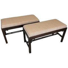 Pair of Vintage Chippendale Benches by Baker Furniture