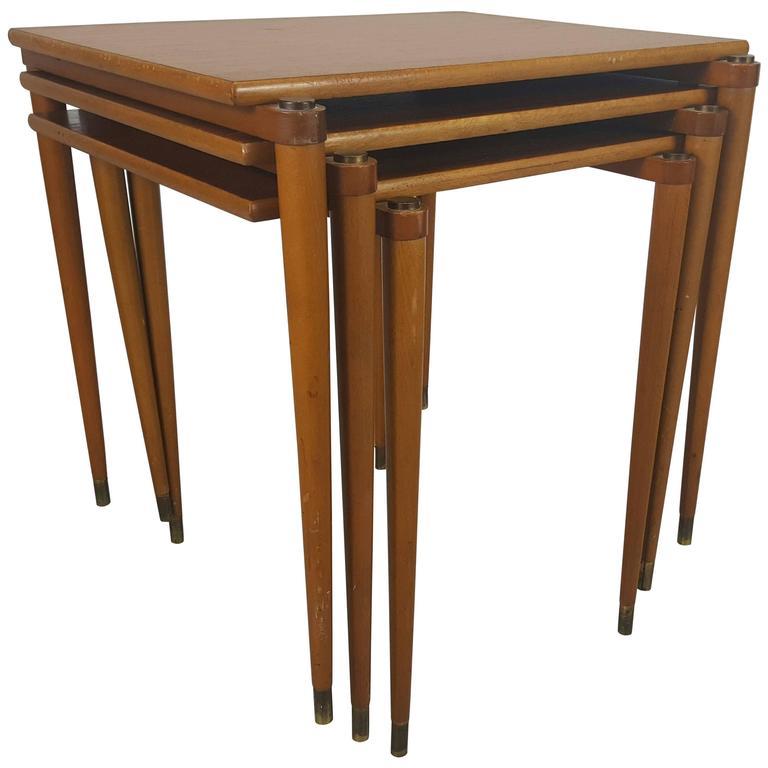 Danish Stackable Tables Manner of Jens Quistgaard for Nissen