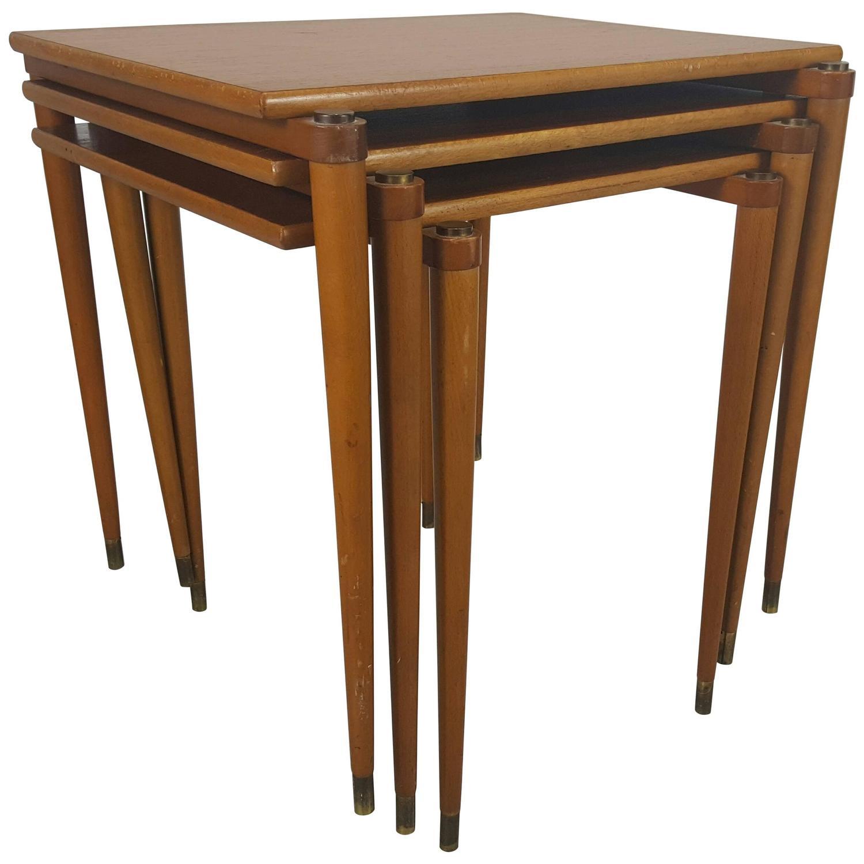 danish stackable tables manner of jens quistgaard for nissen for sale atstdibs. danish stackable tables manner of jens quistgaard for nissen for