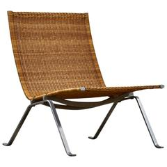 Poul Kjaerholm for E Kold Christensen Chair, Model PK-22 in Cane, 1950s