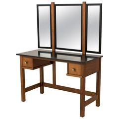 Rare Art Deco Haagse School Dressing Table Or Vanity By Henk Wouda For  Pander