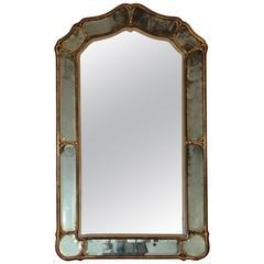 Antique Grey or Blue Venetian Mirror