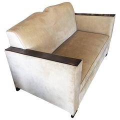 French Art Deco 2 1/2 Seater Moustache Sofa