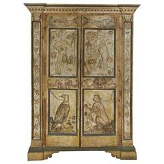 Wonderful Italian Baroque Painted Armoire