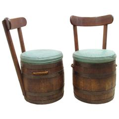 Pair of Barrel Chairs by Old Hickory